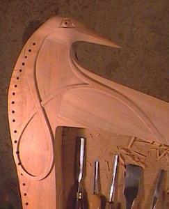 tête de crosse de harpe celtique